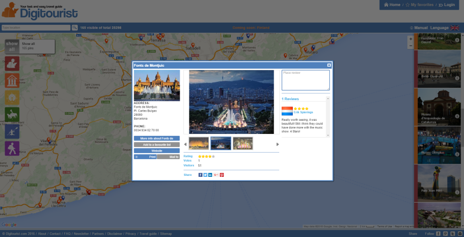 Carte Icom Barcelone.The Best Way To Plan Your Holiday Activities In Europe Digitourist